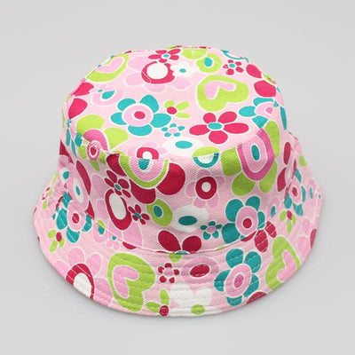 - 2-6T Baby Cartoon Print Bucket Sun Hat Floral Children Summer Panama Caps Baby Girls Fisherman Straw Hat Kids Boys Topee cap - 7  jetcube