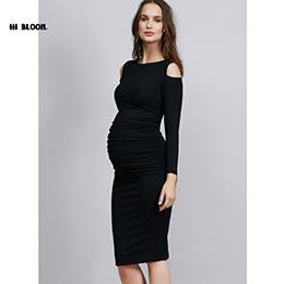 christmas maternity clothes elastic maternity dress nice evening party dress for pregnant women elegant summer lady - Christmas Maternity Dress