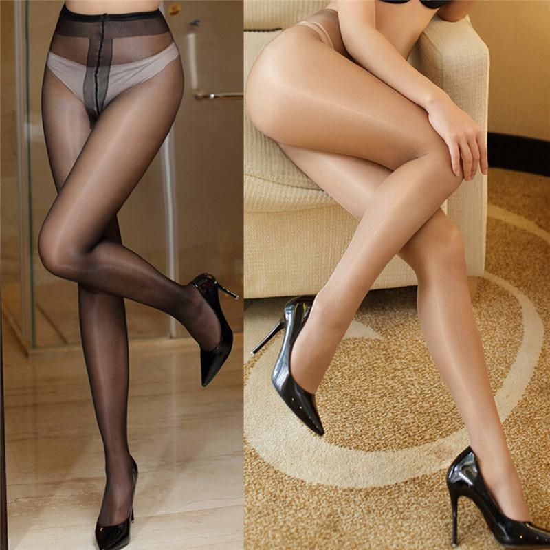 - 15D Women's sexy oil Shiny Glossy Classic pantyhose yarns sexy satin Stockings hose bas resille Fitness Leggings -   jetcube