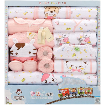 - 18 Pcs/Lot Baby gift Set Newborn Boys and Girls Soft cotton baby set cartoon Print unisex baby Cotton clothing TZ-011 -   jetcube