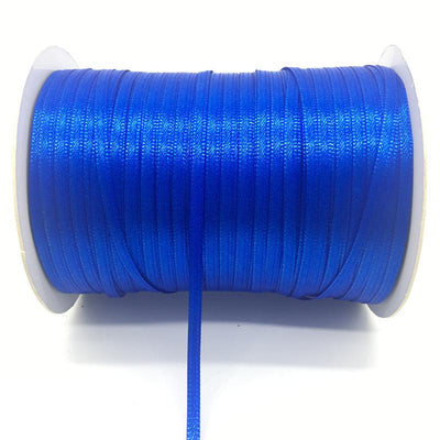 "- (20Yards/lot)1/8"" 3mm Silk Satin Ribbon Polyester Ribbon Wedding Christmas Party Decoration DIY Gift Packing - Blue  jetcube"