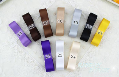 - (24 colors mixed) 20mm double face satin polyester ribbons wholesale Christmas Ribbons 1 lot=24 yards -   jetcube