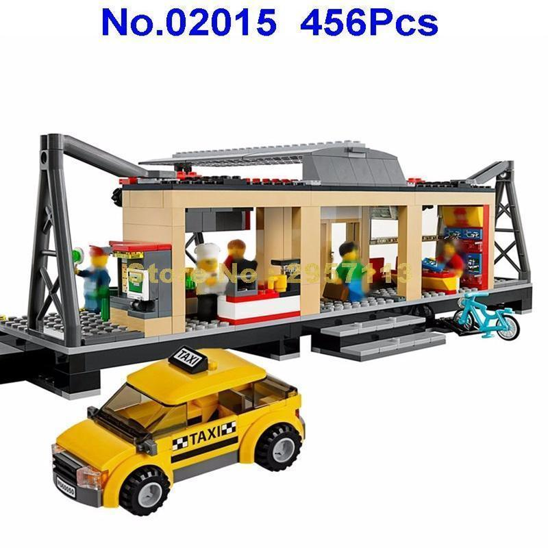 - 02015 456pcs City Series Train Station Lepin Building Block Compatible 60050 Brick Toy -   jetcube