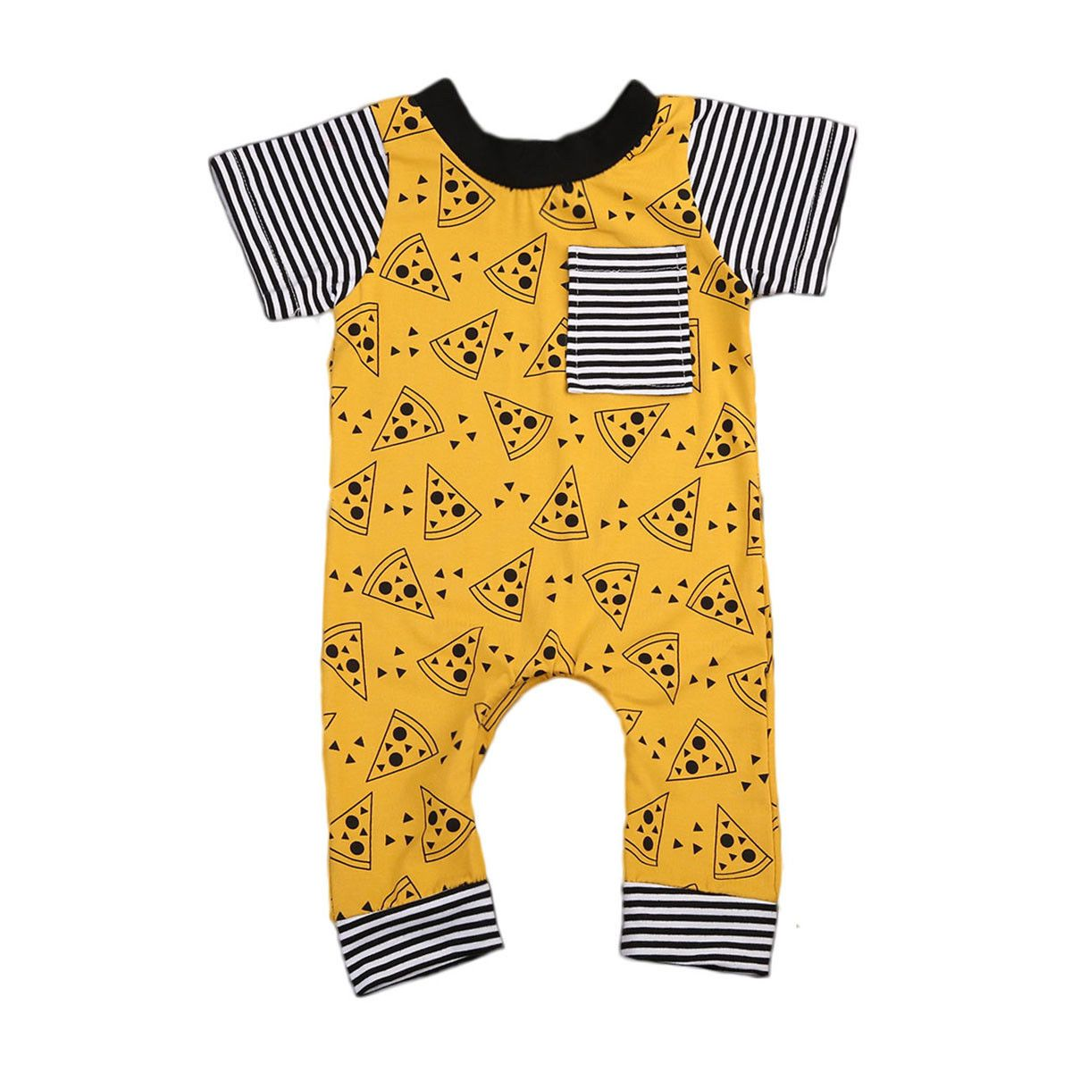Baby Cute Biscuits Clothes Newborn Striped One-piece Romper Boy Girl Short Sleeve Outfits Clothes 0-24M  UpCube- upcube