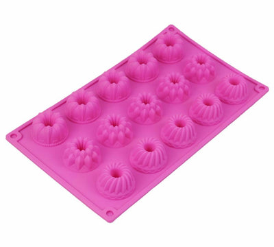 - 18 Holes Mini Shape Silicone Chocolate Mould Biscuit Cake Mold Bakeware 140g -   jetcube