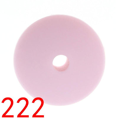 - 100pcs Flat Lentils Silicone Teething Beads Teething Necklace Abacus Silicone Bead Baby Teether Spacer Beading12*6MM JETM.HH - by020222Light pink  jetcube