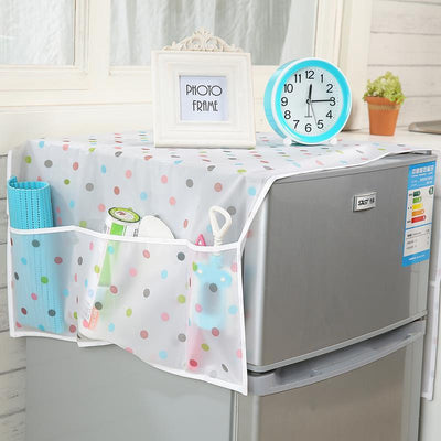 - 128*54cm Waterproof Fridge Cover Dust Cover Daily necessities storage organizer Hanging bag -   jetcube