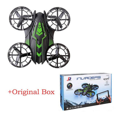 - 2.4GHz UFO Helicopter Mini rc drone FPV WIFI 200W 2MP HD Camera JXD 515W Timely Quadcopter Propeller Up and Down all protection - Green Original Box  jetcube