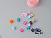 - 10 pcs New Fashion Baby Girls Small Hair Claw Cute Candy Color flower Hair Jaw Clip Children Hairpin Hair Accessories Wholesale - Mix color  jetcube