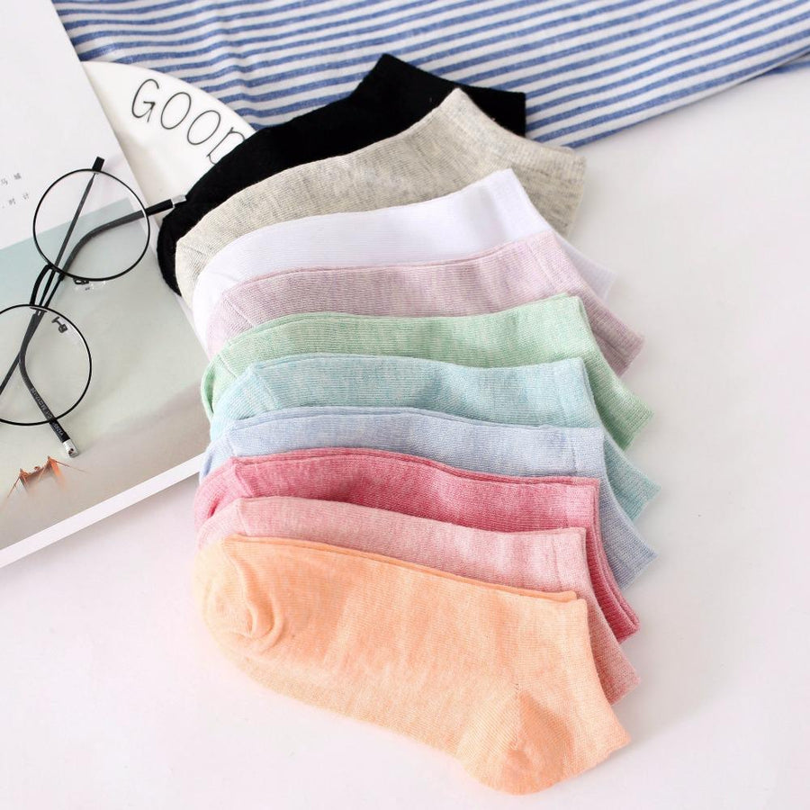 - % 1pair Cute 3D Candy colors Socks Unisex Women Men kids Cotton Sock Female Fashion Casual Short Socks Art Socks Funny Low Ankle -   jetcube
