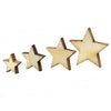 - 100Pcs Mixed Star Shape Wooden Buttons DIY Scrapbook Craft Clothing Decor Button Christmas Gift -   jetcube