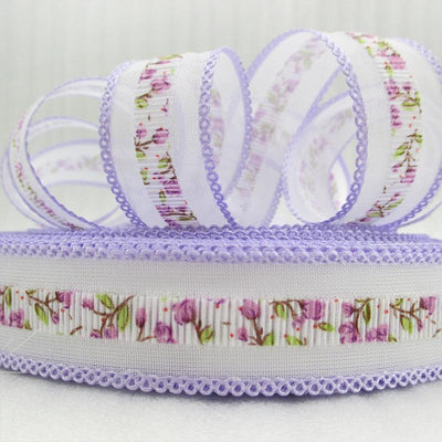 - (5yds per roll) 1''(25mm) flowers tooth ribbon high quality 5 yards, DIY handmade materials, wedding gift wrap,5Y47471 -   jetcube
