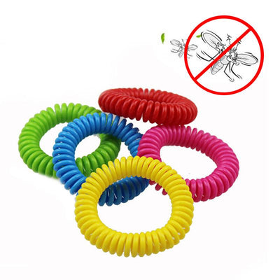 - 10 Pcs/Lot Safe Mosquito Repellent Bracelets Deet Free Waterproof Spiral Wrist Band Outdoor Indoor Insect Protection TB Sale - Default Title  jetcube