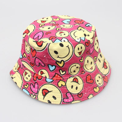 - 2-6T Baby Cartoon Print Bucket Sun Hat Floral Children Summer Panama Caps Baby Girls Fisherman Straw Hat Kids Boys Topee cap - 11  jetcube