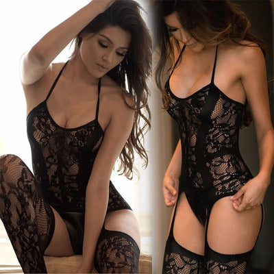 Sexy Lingerie For Women Hot Erotic Fishnet Pantyhose Mesh Hollow Out Women Stockings Babydoll Transparent Lace Tights qq069