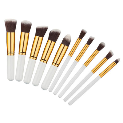 - 10 pcs Professional Min Makeup Brush Set Maquiagem Beauty Foundation Powder Eyeshadow Cosmetics MakeUp Brushes Kabuki Brush Tool -   jetcube