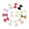- 10 Pcs/ Lot Kids Mini Bow Whole Wrapped Safety Hair Clips Cute Solid Dot Stripe Printing Hairpins For Girls 731 - 9  jetcube
