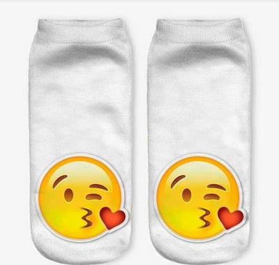 - % Feitong Top Quality Socks Female 3D Fashion Printing Women Sock Unisex Emoji Pattern Meias Cute Feminina Funny Low Ankle - 8  jetcube
