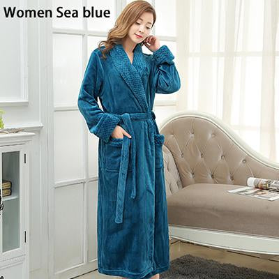 c160e33b80 New Style Lovers Silk Soft Flannel Long Kimono Bath Robe Men Waffle Winter  Bathrobe Mens Robes