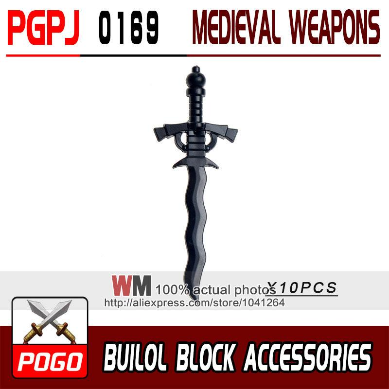 - 10pcs/lot Latest Rome Knight Weapon Sword Accessories Building Blocks Bricks Medieval Knight Weapons - PGPJ0169  jetcube