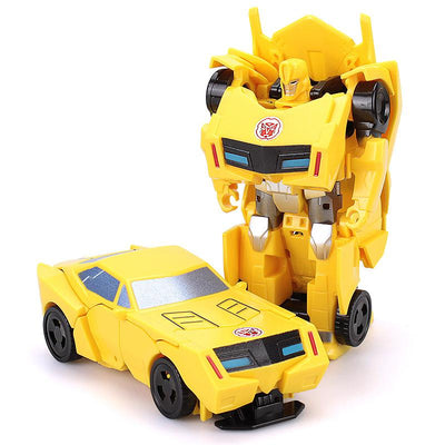 - 12CM Mini Pocket Funny Transformation Toys Deformation Cars Animals Robots Model Bumble Bee / Dinosaur Children Toys - A  jetcube