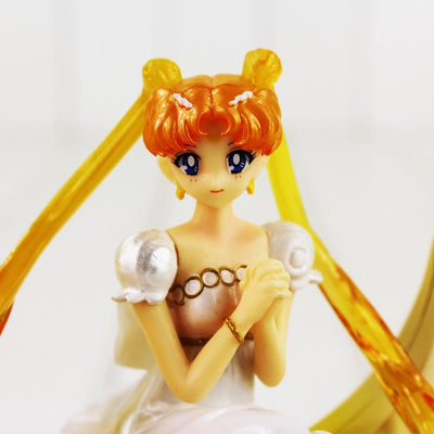 - 12cm Anime Sailor Moon Figure Toy Princess Serenity Costume Figuarts Zero Beauty Model Doll With Base -   jetcube
