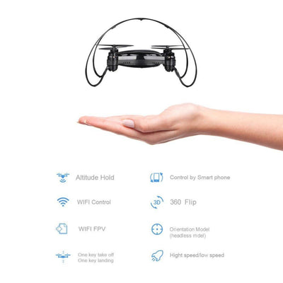 0.3MP HD Camera 2.4Ghz 4CH WIFI FPV RC Quadcopter Drone With Altitude Hold Dron 6-axis Gyro Helicopter Mini-Drone FY603 VS H37  UpCube- upcube
