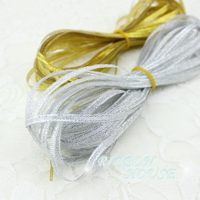 - (20 meters/lot)1/8''(3mm) polyester organza ribbons Christmas packaging ribbon high-grade quality squares ribbons -   jetcube