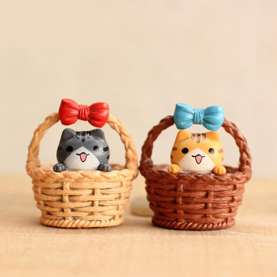 - (4pcs/lot) Cheese cat miniature figurines toys cute lovely Model Kids Toys 3cm PVC japanese anime children figure world 160325 -   jetcube