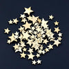 - 100Pcs Mixed Star Shape Wooden Buttons DIY Scrapbook Craft Clothing Decor Button Christmas Gift - Default Title  jetcube
