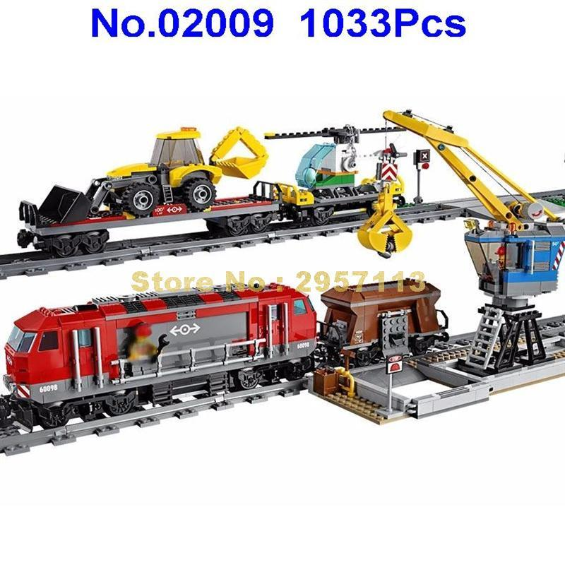 - 02009 1033pcs City Engineering Remote Control RC Train Lepin Building Block Compatible 60098 Brick Toy - Default Title  jetcube