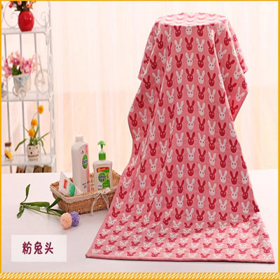 - 0-6 Years Old Three Layers Printed Baby big towel Gauze Cotton Package is Jacquard Children Bath Towel 70*145cm Free Shipping -   jetcube