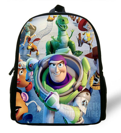 - 12-inch Childlike Toy Story School Bag Cute Buzz Lightyear Backpacks Toy Story Book Bags For Boys and Girl Aged 1-6. -   jetcube