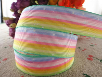 "- 17071103,New arrival 7/8"" (22mm) 10 yards/lot printed grosgrain ribbons colorfuls ribbon DIY handmade materials -   jetcube"