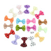 - 10 Pcs/ Lot Kids Mini Bow Whole Wrapped Safety Hair Clips Cute Solid Dot Stripe Printing Hairpins For Girls 731 - 7  jetcube