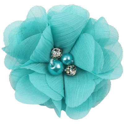 - 2.5 inch Pearl Diamond Headdress Flower Hair Accessories New Born Teens Girl Hairpin Children Fashion Elastic Hairclip Hairbow - 11  jetcube
