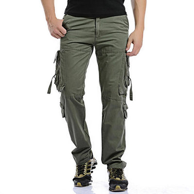 - 2016 Fashion Multi-Pocket Solid Men's Cargo Pants men High Quality Plus Size Trousers 28~42 Military Army Camouflage Overalls -   jetcube