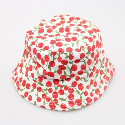 - 2-6T Baby Cartoon Print Bucket Sun Hat Floral Children Summer Panama Caps Baby Girls Fisherman Straw Hat Kids Boys Topee cap - 9  jetcube