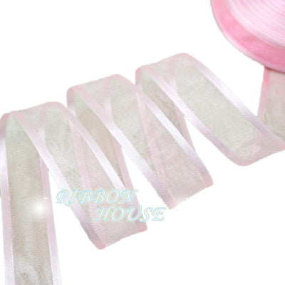 - (50 yards/roll) 1'' (25mm) White broadside organza ribbons wholesale gift wrapping decoration ribbons -   jetcube