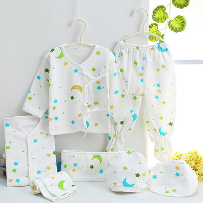 - 0-3M Newborn Infant Baby Girls boys Clothes Long-sleeved shirt,pants,hat,scarf 7pcs 5pcs Outfit Kids Clothing Set Factory cheap - 11 / 3M  jetcube