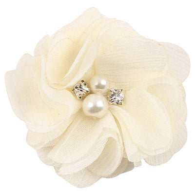 - 2.5 inch Pearl Diamond Headdress Flower Hair Accessories New Born Teens Girl Hairpin Children Fashion Elastic Hairclip Hairbow -   jetcube