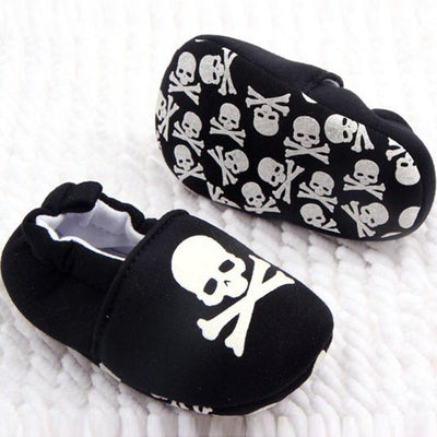 - 0-12M Toddler Baby Skull Pirate Printed Casual Shoes Soft Bottom Girl Boys Shoes New Sales -   jetcube