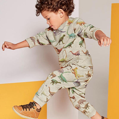 2017 Autumn Dinosaur Baby Boys Clothing Set Long T-shirt+Pant Kids Clothes Set Vetement Bebe Garcon 1-6 Years Tracksuit KF270