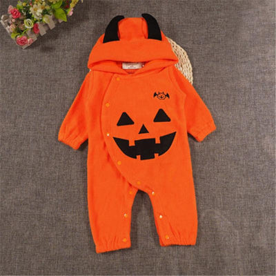 - 0 to 24M Newborn Kids Baby Boy Girls Clothes New Style Cute Halloween Long Sleeve Romper Jumpsuit Outfits Baby Clothing - Orange / 12M  jetcube