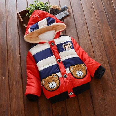 - 2016 Hot autumn winter Kid Fashion Jacket Boy and girl Cashmere Long Sleeve Hooded Clothing Children Warm Coats - Red / 2T  jetcube