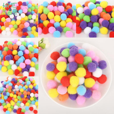 - 100-500pcs 10/15/20/25/30mm Multi-function Mini Fluffy Soft Pompom Pom Pom Balls DIY Kids Toys Decoration Sewing Accessories -   jetcube
