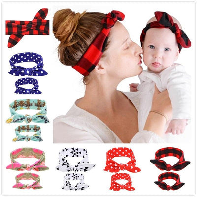 Mommy and Me Top Knots Headwrap Set Topknot Headband Mom and Me Headbands Mom and Daughter turban Set 1set HB536