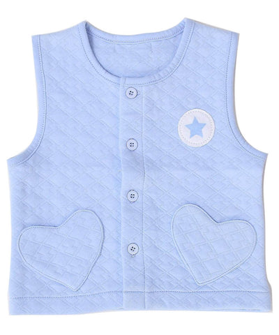- 0-2 Years-Old Baby Boy Girl Waistcoat Jacket Vest Outerwear in Spring Autumn in Jacquard - Blue / 18M  jetcube