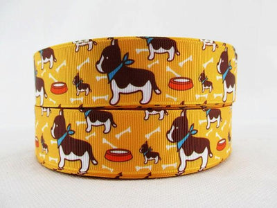 "- (5yds per roll) 1""(25mm) Cute Dog high quality printed polyester ribbon, DIY handmade materials, wedding gift wrap,5Yc1659 - 1040436001  jetcube"