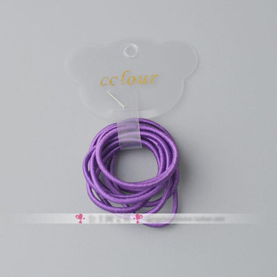 - 10 Pcs/ lot (1 pack) Mini 2.5mm thickness hair ropes little girls Slim hair ties kids Babe hair ropes accessories - Purple  jetcube